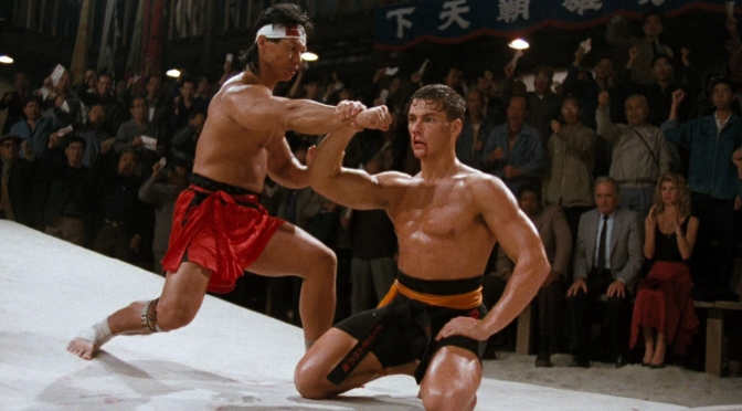 Frank Dux punch-catching.