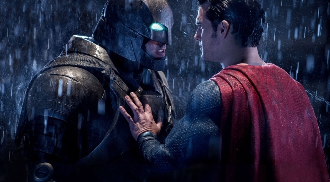 Batman (Ben Affleck) faces Superman (Henry Cavill) in Batman v Superman: Dawn of Justice