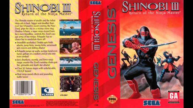Shinobi III: Return of the Ninja Master on Sega Genesis