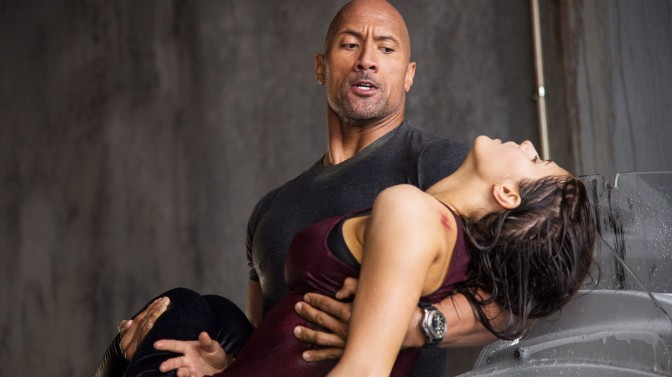 The Rock and Alexandra Daddario in San Andreas