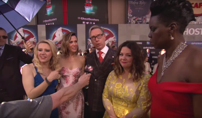 Paul Feig and 2016 Ghostbusters Cast