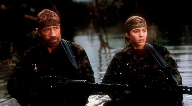 Chuck Norris and Jonathan Brandis in Sidekicks