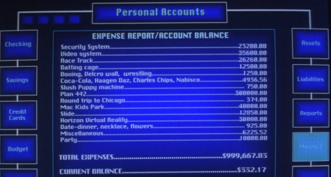 Preston's Account Summary (Blank Check)